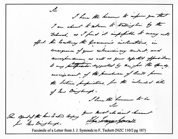 Facsimile Of A Letter ...