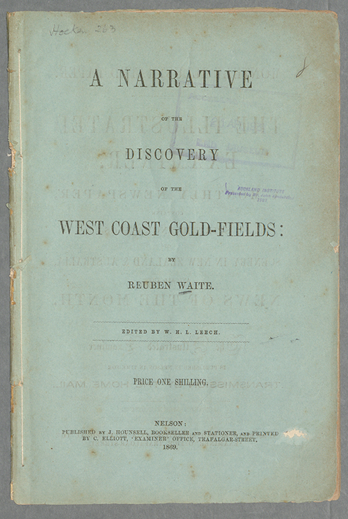 ENZB - 1869 - Waite, Reuben  A Narrative of the Discovery of